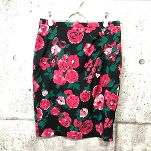 Jacob Floral (Pink / Red Roses) Skirt